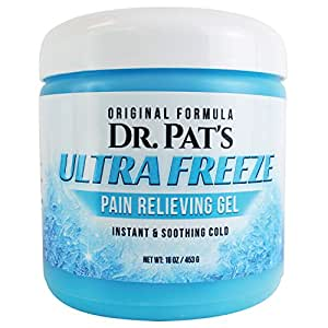 Pain Relief Cream [XL- 16 Oz] - Dr. Pat's Muscle Pain Relief Topical Analgesic Gel - Anti Inflammatory Therapy Rub for Arthritis, Tendinitis, Back Sciatica, Neck Pain, Plantar Fasciitis, Sore Joint