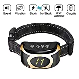 momen Bark Collar [New Version] Humanely Stops Barking with Sound and Vibration. NO Shock, Harmless and Humane. Small Dog Bark Collar, Medium Dog Bark Collar