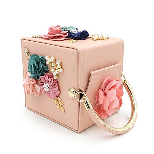 Pearl Square Wallet Purses Cuir Sac Femmes TuTu Flower Pochettes en Xw6nfCxYq8