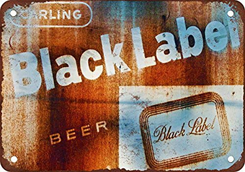 (YFULL Rusty Carling Black Label Beer Vintage Look Reproduction Metal Tin Sign 12X16 Inches)