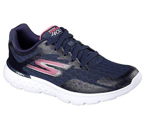 B Hot Performance 400 Go Hot Running Pink M Navy 5 Run Skechers Shoe Navy Disperse Pink US Womens 7 BTfqwfO