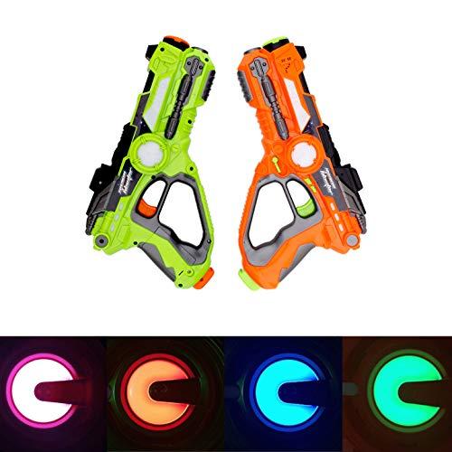 HANMUN 2Pcs Laser Tag Blaster Gun for 8+ Years Old Kids Boys Girls Adults Chritstmas Gift