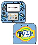Megaman 25th Anniversary Special Edition Mega Man Rockman Video Game Vinyl Decal Skin Sticker Cover for Nintendo 2DS System Console