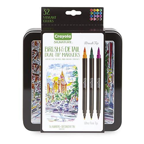 Crayola 58-6501  Brush & Detail Dual Tip Markers