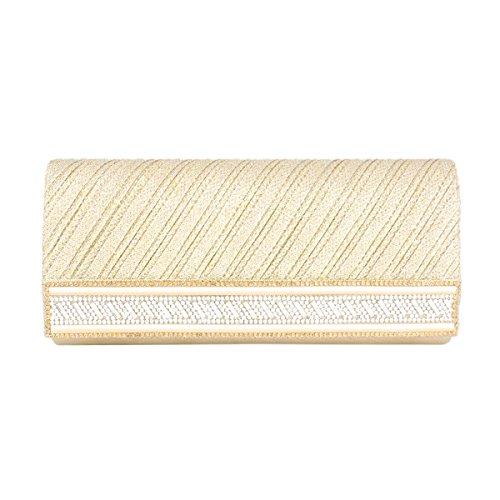 Day Saturn Evening Party Gold Women Bag Clutch of Diamond Fabric 6YR6rn