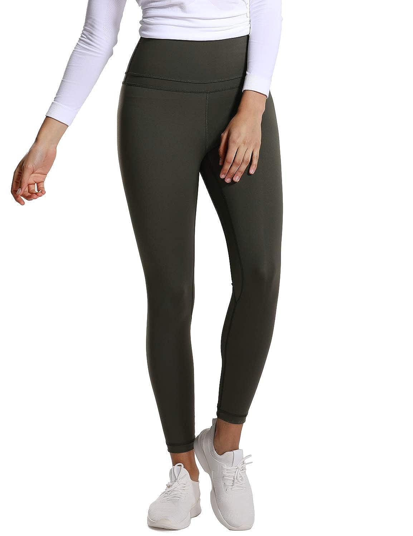 TALLA XL(44). CRZ YOGA Mujer Lycra Compression 7/8 Leggings de Cintura Alta Deportivos Running Fitness Pantalon con Bolsillo