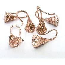 TheTasteJewelry 10x20mm Ear Sticker Mount Copper Tone Lot 10 Pcs - 4904 Findings Jewelry Making