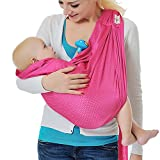 Cheap Baby Water Ring Sling and Wrap Carrier for Infant, Newborn Comfort & Toddler, Breathable Quick Dry Mesh Fabric, Adjustable, Perfect for Summer, Pool, Beach & Shower Bright Pink