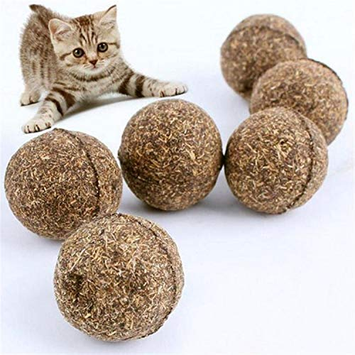 (Monkey* Catnip Ball-Catnip Treats-Pet Cat Natural Catnip Treat Ball Favor Home Chasing Toys Healthy Safe Edible Treating)