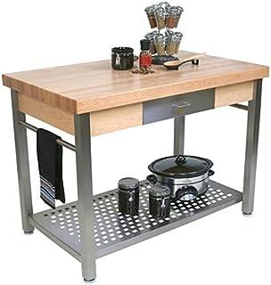 "product image for John Boos CUCG20 Cucina Grande' Wood Top Work Table 48""W x 28""D x 35""H"