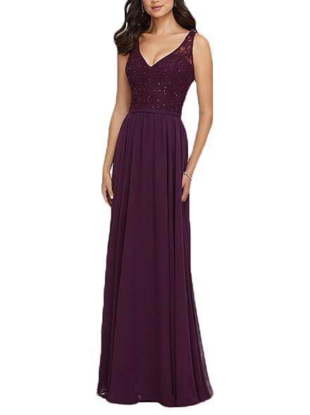 Ulbridal Burgundy Wedding Bridesmaid Dresses Long Plus Size 2018