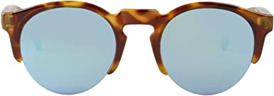 MR, High-Contrast tortoise born with sky blue lenses - Gafas De Sol unisex multicolor (carey), talla única