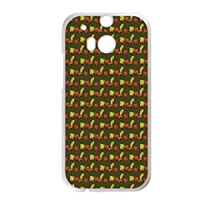 HTC One M8 Cell Phone Case White Zombie Bread Banana And Apples Qddit