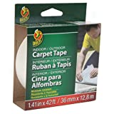 Tools & Hardware : Duck Brand 392907 Indoor/Outdoor Carpet Tape, 1.41-Inch x 42 Feet, Single Roll