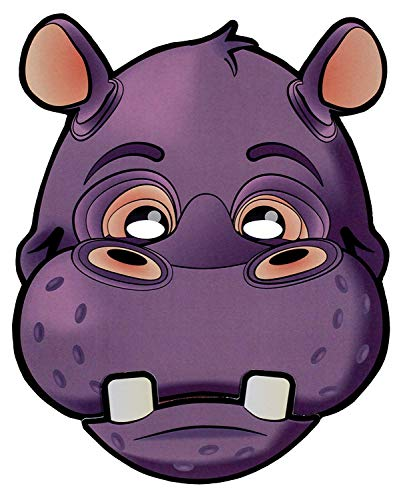 Blue Sky Studios Hippo Mask Paper Hippo Moving Mouth Mask - Hippo Mask Halloween Party Costume -