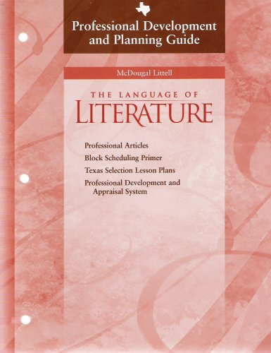 The Language of Literature Professional Developement and Planning Guide Grade 9 PDF