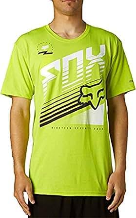 Fox Racing Mens Two Stroke Tech Short-Sleeve Shirt Medium Day Glo Green