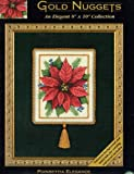 Poinsettia Elegance - Gold Nuggets - Counted Cross Stitch Kit