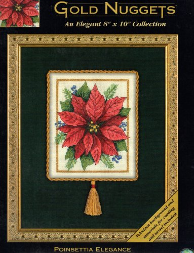 Poinsettia Elegance - Gold Nuggets - Counted Cross Stitch Kit ()