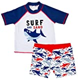 Kids Toddler Boys Shark Print Rash Guard Swimsuit