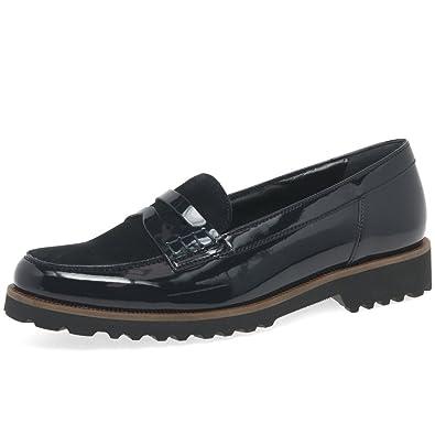 Gabor Shoes Gabor Fashion, Mocassins Femme, Noir (Schwarz Cognac), 35.5 EU