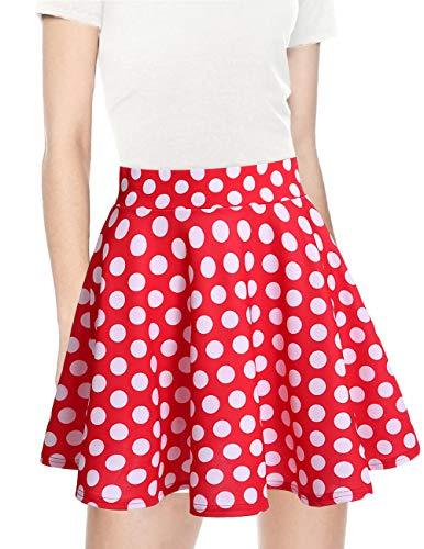 Dot Vita White Red Gonna Solida Alta Casual Colore Mini Bridesmay Donna 8OPk0nw
