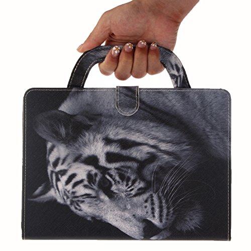Vandot Leder Tasche für Tablet iPad Mini 4 Hülle Cover mit Tragegriff Handschlaufe, 3D Muster Ultra Slim Kratzfeste Stoßfest Schutzhülle mit Samrt Automatischem Schlaf Funktion Standfunktion Ultra Dün Muster 15