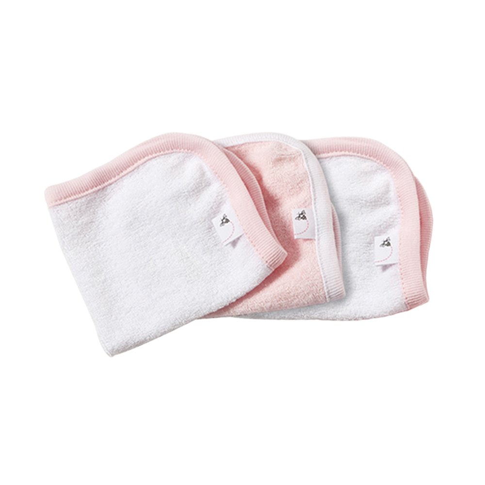 Burt's Bees Baby - Washcloths, Absorbent Knit Terry, Super Soft 100% Organic Cotton (Blossom Pink, 3-Pack) by Burt's Bees Baby