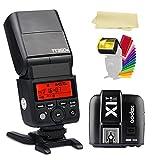 Godox TT350S 2.4G TTL GN36 1/8000s High-Speed Sync Camera Flash Speedlite light +Godox X1T-S Wireless flash Trigger Transmitter for Sony DSLR Camera