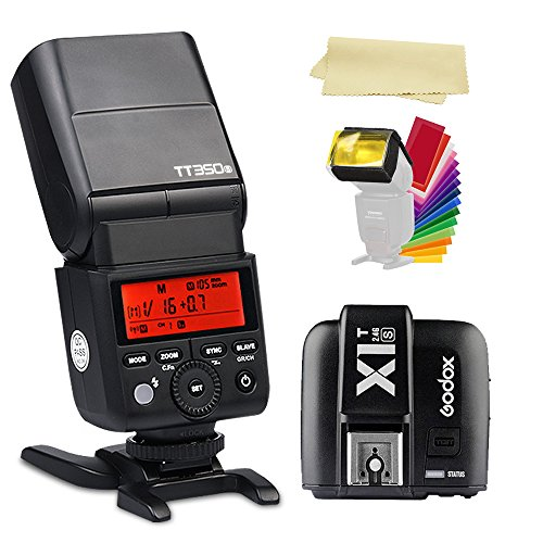 Godox TT350S 2.4G TTL GN36 1/8000s High-Speed Sync Camera Flash Speedlite light +Godox X1T-S Wireless flash Trigger Transmitter for Sony DSLR Camera