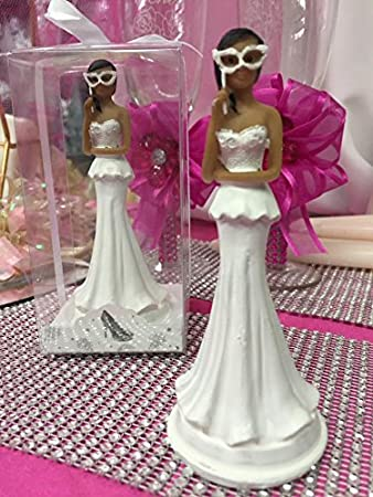 5 ethnic figurine doll for bridal showers sweet 16 mis quince masquerade favor or cake top
