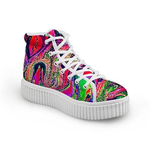 Hugs Idea Moda Colorido Galaxy Mujer Zapatos Plataforma Zapatillas Color Mezclado 17