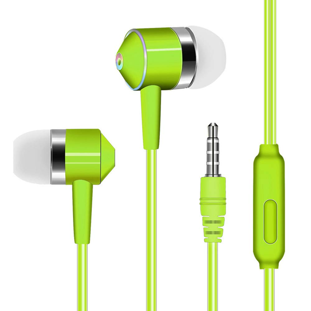 Chenway Over-Ear Gaming Headphones,Wired Piston Dual-Driver Headsets Built-in Mic,3.5mm Connector for iPhone 6/6 Plus, for Samsung S5, S4, for LG, for Xiaomi, for iPad, PC, Laptop, Tablet (Green)