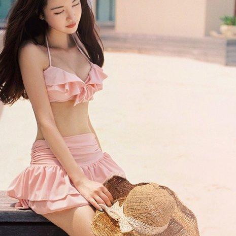 YUPE Hot spring Badeanzug Badeanzüge Frauen Stahl Tulpen Bikini Rock Split 3-teilige Hot Springs Bademode