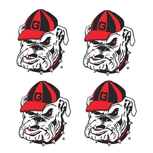 NCAA Georgia Bulldogs 4-Pack Waterless Temporary Tattoos