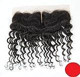 DaJun 6A Mid-Part Bleach knots Lace Front Closure 13''*4'' European Unprocessed Hair Deep Wave Natural Colour (trademark:DaJun)