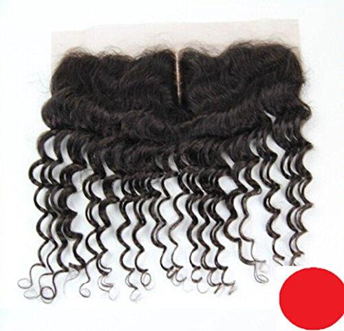 DaJun 6A Mid-Part Bleach knots Lace Front Closure 13''*4'' European Unprocessed Hair Deep Wave Natural Colour (trademark:DaJun) by DaJun