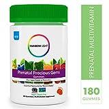 Rainbow Light Prenatal Precious Gems Non-GMO Project Verified Multivitamin Gummies Plus Superfoods & Probiotics - 180 Tablets