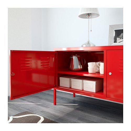 Ikea Red Cabinet Stand Multi Use Lockable Buy Online In Uae Home Products In The Uae See