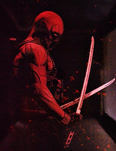 Deadpool Metal Poster splatter spray paint art marvel by Art of Steel