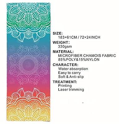 LASKPN Yoga Mat Towel Sport Fitness Dance Anti-Slip Mat Gym Exercise Pilates Workout Printing Training Blanket Soft Towel,B