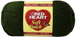 Coats yarn Red Heart Soft Touch Yarn, Dark Leaf Green