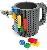 OliaDesign BPA-Free Build-On Brick Coffee Mug, 12 oz, Gray