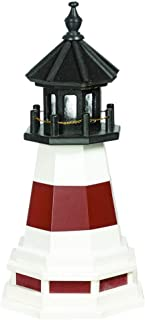 product image for DutchCrafters Decorative Lighthouse with Base - Wood, Montauk Style (Cherrywood/White/Black, 5)
