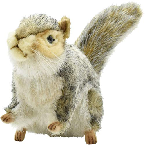 (Hansa Sitting Squirrel Plush, Gray)