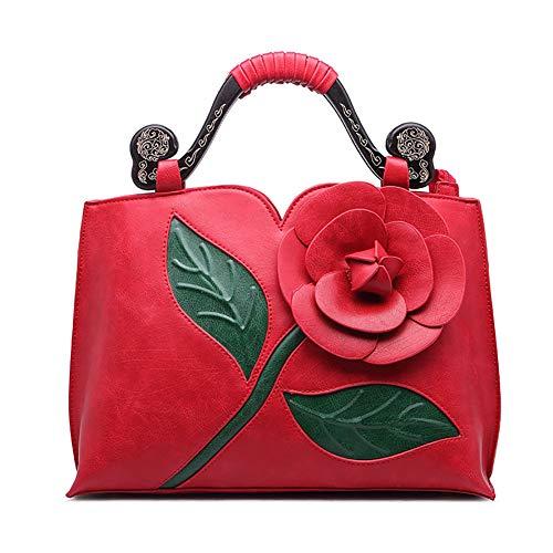 3d Crossbody Bolso Mano Pu Cuero Red Bolsas Hombro De Mujer Ajustable Yyddt Hojas Tótem Desmontable Rosa Correa Personalidad REwcWqxnBU