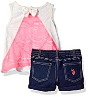 U.S. Polo Assn. Girls' 2 Piece Tank Top ...