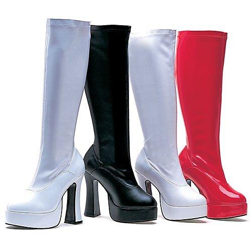 Ellie Shoes Womens 5 Inch Hak Stretch Knie Laarzen. Met Zwart Patent Aan De Binnenkant Van De Rits