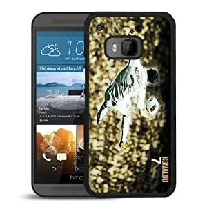 Cristiano Ronaldo Real Madrid 02 Black Hard Plastic HTC ONE M9 Phone Cover Case