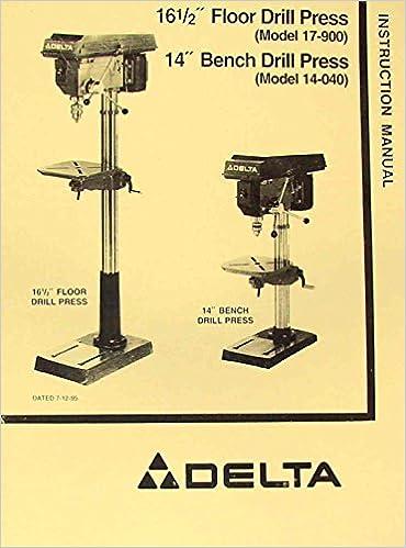 Delta Rockwell 17 900 14 040 165 Drill Press Operators Parts